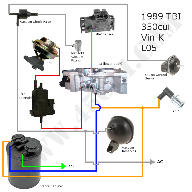 chevy tbi vacuum diagram for  u2022 wiring diagram for free
